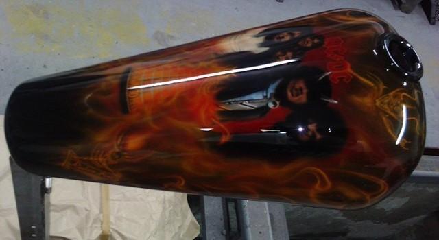 Airbrushing,oslikavanje dijelova motora !