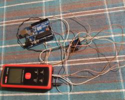Kontrola UT390B laserskog mjerača udaljenost preko arduina