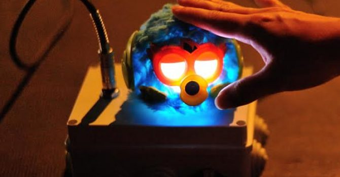 Upgrading Furby Party Rocker Creature for Sound Art Incubator